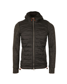 Superdry Mens Black Storm Hybrid Ziphood