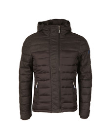 Superdry Mens Black Fuji Mix Double Ziphood Jacket