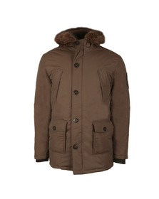 Superdry Mens Green Fur Trimmed Everest