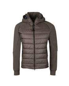 CP Company Mens Grey Soft Shell Puffer Goggle Jacket
