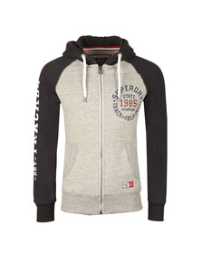Superdry Mens Grey Trackster Baseball Ziphood