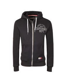 Superdry Mens Blue Trackster Ziphood