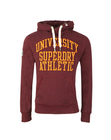 Superdry Mens Red Applique Overhead Hood