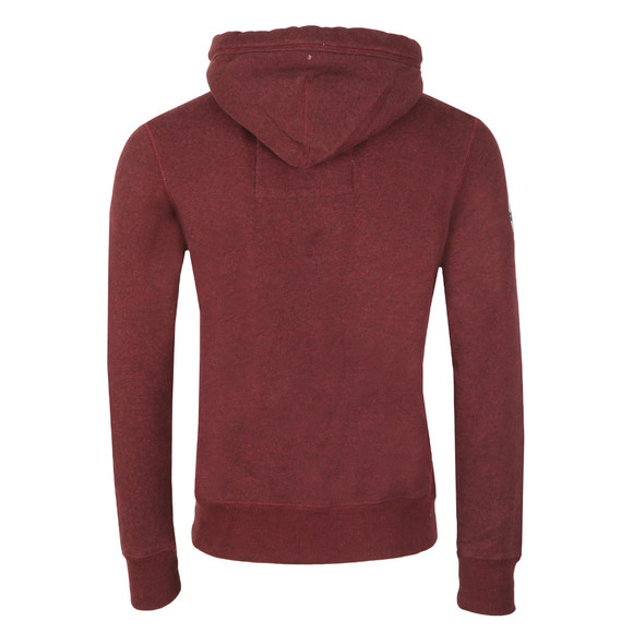 Superdry Mens Red Applique Overhead Hood main image