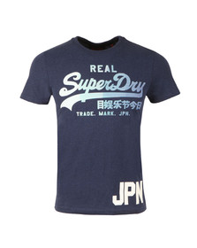 Superdry Mens Blue Vintage Logo 1st Tee