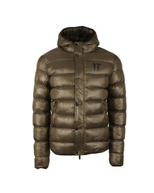 Eleven Degrees Mens Green Strike Puffer