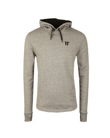 Eleven Degrees Mens Grey Composite Curved Hem Pull Over Hoody