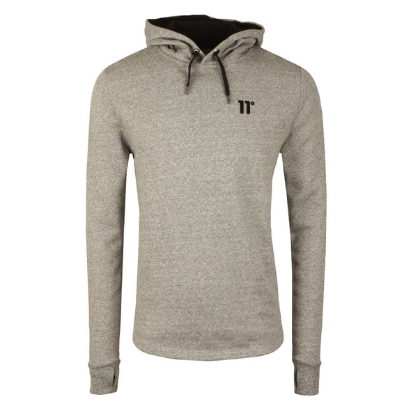 Eleven Degrees Mens Grey Composite Curved Hem Pull Over Hoody main image