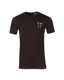Eleven Degrees Mens Black Fuzzy Camo Logo T Shirt