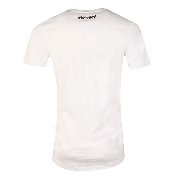Eleven Degrees Mens White Fuzzy Camo Logo T Shirt main image