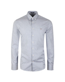 Gant Mens Blue Tech Prep Gingham LS Shirt