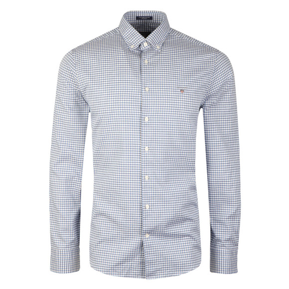 Gant Mens Blue Tech Prep Gingham LS Shirt main image