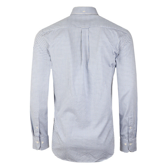 Gant Mens Blue Tech Prep Gingham LS Shirt main image