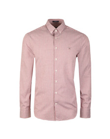 Gant Mens Red Tech Prep Gingham LS Shirt