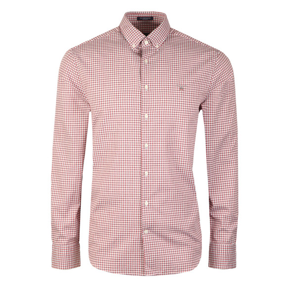 Gant Mens Red Tech Prep Gingham LS Shirt main image