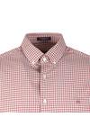 Gant Mens Red Tech Prep Gingham LS Shirt