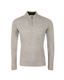 Ben Sherman Mens Grey 1/2 Zip Funnel Jumper