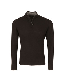 Ben Sherman Mens Black 1/2 Zip Funnel Jumper