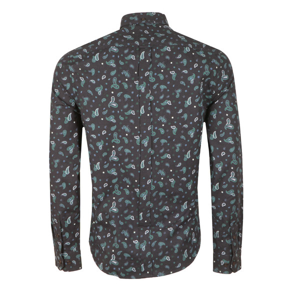 Ben Sherman Mens Blue L/S Paisley Marl Shirt main image