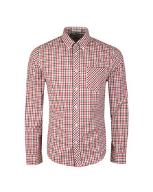 Ben Sherman Mens Red L/S House Check Shirt