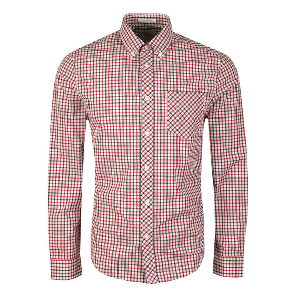 Ben Sherman Mens Red L/S House Check Shirt main image