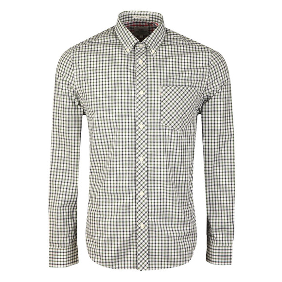 Ben Sherman Mens Green L/S House Check Shirt main image