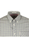 Ben Sherman Mens Green L/S House Check Shirt