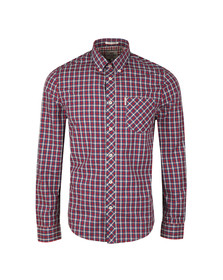 Ben Sherman Mens Blue L/S House Check Shirt