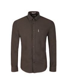 Ben Sherman Mens Brown L/S Oxford Shirt