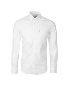 Ben Sherman Mens White L/S Oxford Shirt