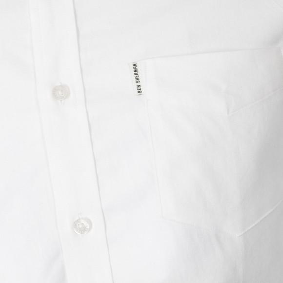Ben Sherman Mens White L/S Oxford Shirt main image