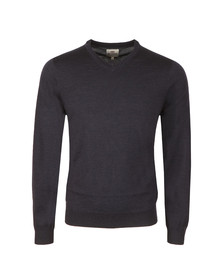 Ben Sherman Mens Blue Merino V Neck Jumper