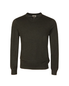 Ben Sherman Mens Brown Merino V Neck Jumper