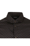 Armani Jeans Mens Black 6Y6C74 All Over Pattern Shirt