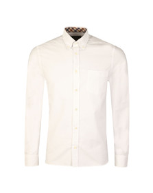 Aquascutum Mens White Bevan Classic Oxford Shirt