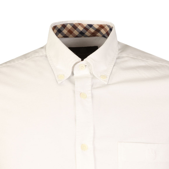 Aquascutum Mens White Bevan Classic Oxford Shirt main image
