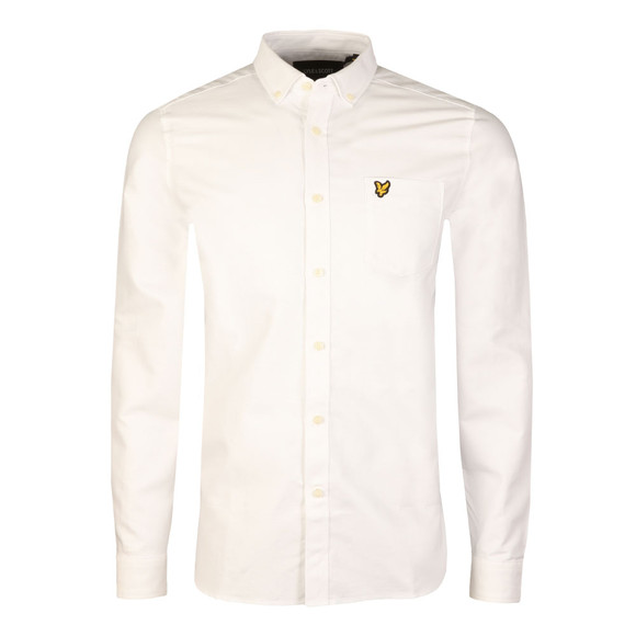 Lyle and Scott Mens White L/S Oxford Shirt main image