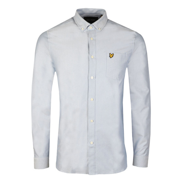 Lyle and Scott Mens Blue L/S Oxford Shirt main image