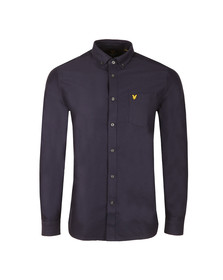 Lyle and Scott Mens Blue L/S Oxford Shirt