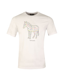 Paul Smith Mens White Line Zebra Print T-Shirt