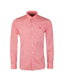 Pretty Green Mens Red L/S Hendry Gingham Shirt