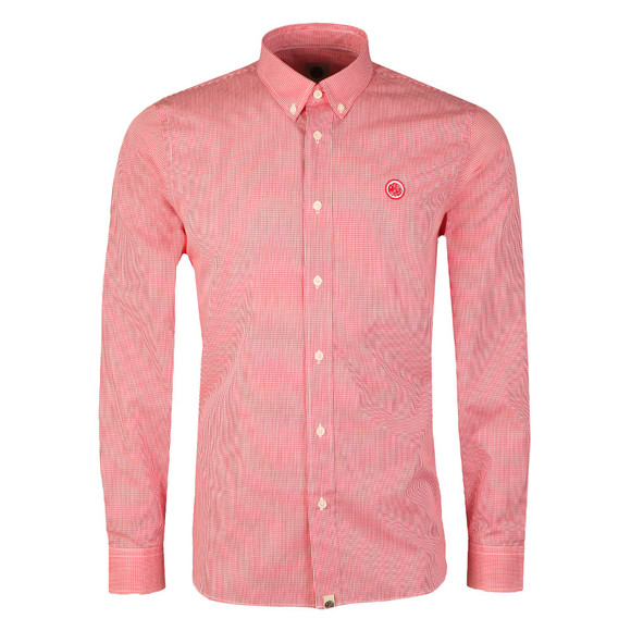 Pretty Green Mens Red L/S Hendry Gingham Shirt main image