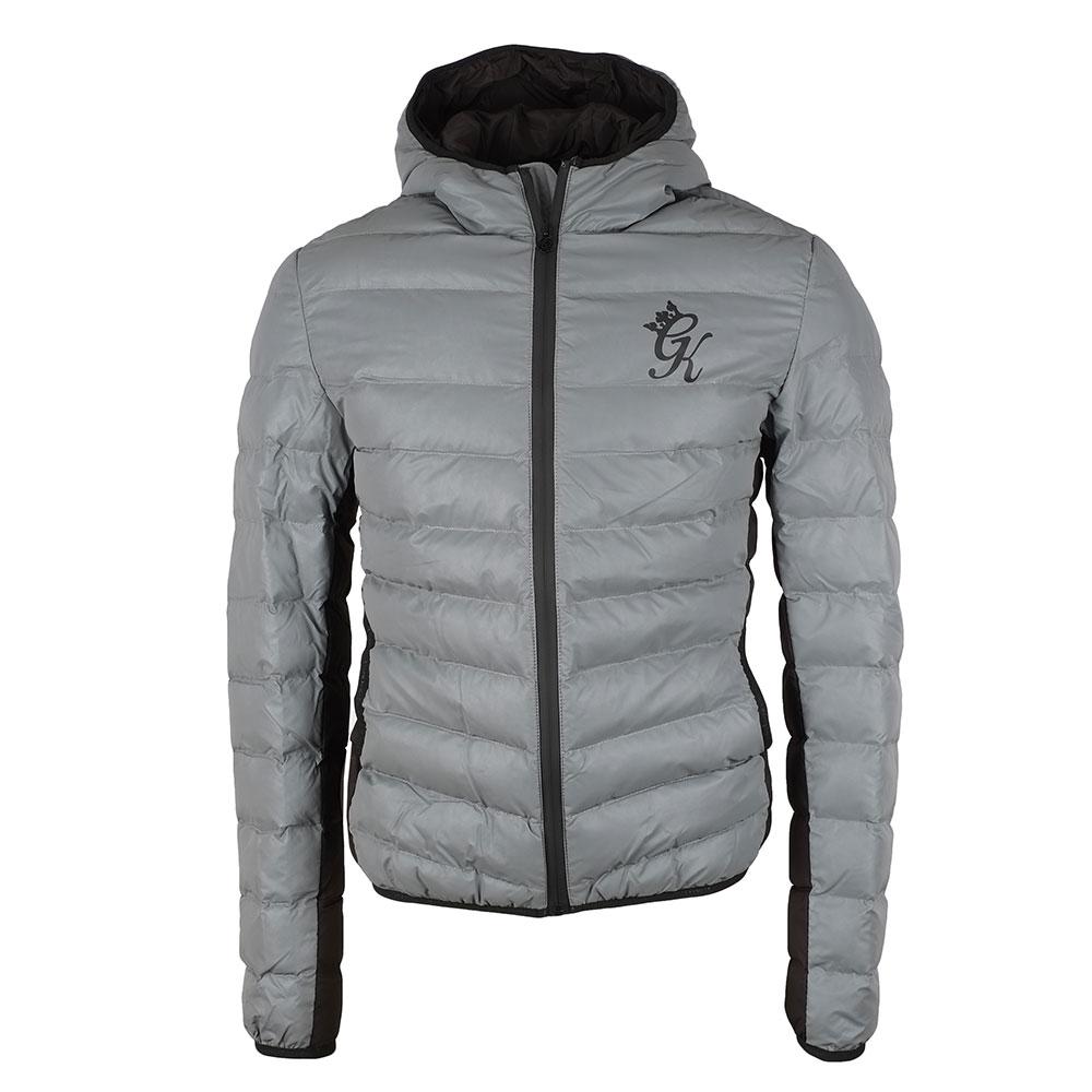 7fdd4253d Mens Grey Reflective Puffer Jacket