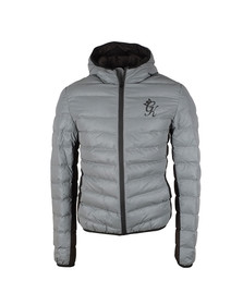 Gym king Mens Grey Reflective Puffer Jacket