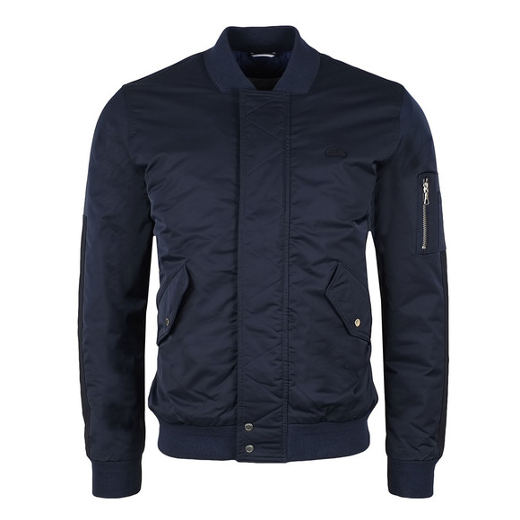 Lacoste Mens Blue BH7454 Bomber Jacket main image