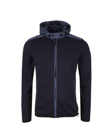 Weekend Offender Mens Blue Norton Hooded Full Zip Sweat