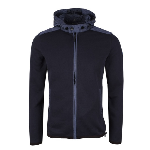 Weekend Offender Mens Blue Norton Hooded Full Zip Sweat main image