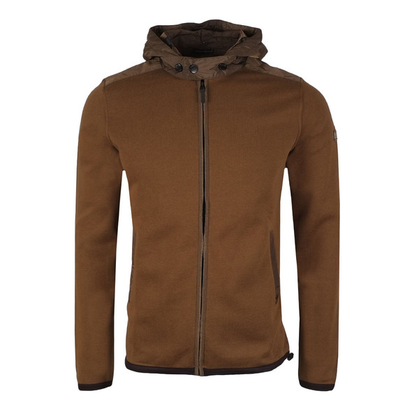 Weekend Offender Mens Green Norton Hooded Full Zip Sweat main image