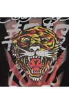 Ed Hardy Mens Black Roar Japan Crew Sweat