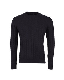 Weekend Offender Mens Blue Woods Cable Knit Jumper
